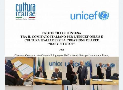 Protocollo d'intesa con l'UNICEF Italia