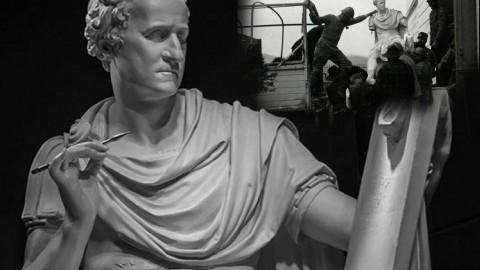 La statua di George Washington realizzata dal Canova